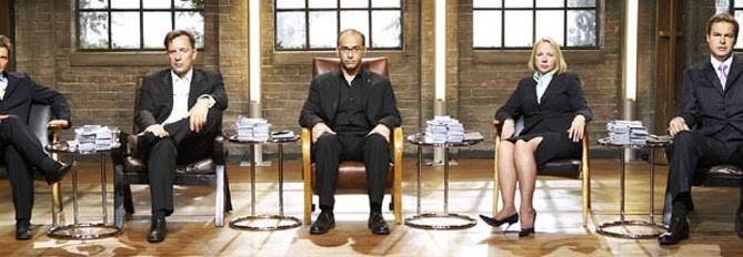 Picture Shows:  Left to right - Richard Fairleigh, Duncan Bannatyne, Theo Paphitis, Deborah Meaden and Peter Jones.  BBC TWOTwo new dragons join the fire breathing milionaire investors in the third series of the award-winning, BAFTA-nominated Dragons' Den, presented by BBC Economics Editor Evan Davis.  New dragons, Richard Fairleigh and Deborah Meaden, line up alongside Peter Jones, Duncan Bannatyne and Theo Paphitis.  They'll come face to face with a fresh batch of hopeful dragon slayers seeking investment in the den.  WARNING: Use of this copyrighted image is subject to Terms of Use of BBC Digital Picture Service.  In particular, this image may only be used during the publicity period for the purpose of publicising 'Dragons Den' and provided the BBC is credited. Any use of this image on the internet or for any other purpose whatsoever, including advertising or other commercial uses, requires the prior written approval of BBC